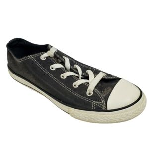 CONVERSE All Star Grey Sparkle OX Sneakers